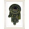 "Studio Works Modern ""Hamsa Hand of God"" by Zhee Singer Framed Graphic Art"