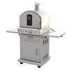 "<strong>Pacific Living</strong> 19.88"" Outdoor Pizza Oven Gas Grill with Cart"