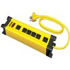"Stanley Electrical 6 Outlet Metal Power Strip with 120"" Cord"