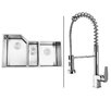 "Ruvati 33.75"" x 19.13"" Kitchen Sink with Faucet"