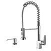 Ruvati Cascada Single Handle Pull-Down Kitchen Faucet with Soap Dispenser