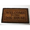 """DEI Lucky Dog """"Home Is Where the Dog Is"""" Brown/Tan Area Rug"""