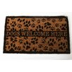 "DEI Lucky Dog ""Dogs Welcome Here"" Expressions Coir Rug"