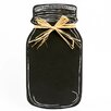 "DEI Farm to Table Mason Jar Wall 1' 1.5"" x 7.25"" Chalkboard"