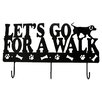 "<strong>DEI</strong> Lucky Dog ""Let""s Go for a Walk"" Leash Wall Hook Rack"