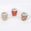 DEI Christmas Morning 3 Piece Christmas Sayings 24 Oz. Jumbo Stoneware Mug Set