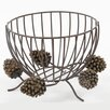 DEI Woodland River Resin and Metal Pine Cone Keeper
