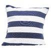 DEI Latitude 38 Nautical Stripe Cotton Throw Pillow