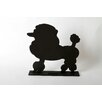 "DEI Unleashed ""Poodle"" Dog Silhouette Table 1' 2"" x 1' 2.5"" Chalkboard"