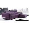Eurosace Luxury Napoli Sectional Sofa with Chaise Lounge - Italian Fabric