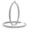 <strong>Diamond Hoop Earrings</strong> by Steeltime
