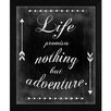 <strong>Only Adventure Framed Textual Art</strong> by The Craft Room