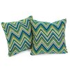 Home Loft Concept Fischer Lagoon Green Sunbrella Pillow (Set of 2)