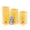 WBM LLC Himalayan Glow 3 Piece Pillar Candle Set