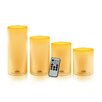 <strong>WBM LLC</strong> Himalayan Glow 4 Piece Pillar Candle Set
