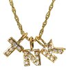 <strong>Shame on Jane</strong> 14K Gold Dipped and Simulated Diamond Initial Charm