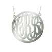 <strong>Shame on Jane</strong> Sterling Silver Outlined Monogram Necklace