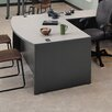 "<strong>Unity 72"" W 4 Drawer Double Pedestal Arc Executive Desk</strong> by ABCO"
