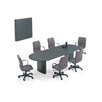 ABCO Fluted T-Mold Edge Conference Table with Curved Plinth Base