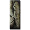 Pure Art Animal Sculptures Elephant Close Up Original Painting Plaque