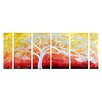 <strong>Pure Art</strong> Tree Sculptures Eden at Dusk 6 Piece Original Painting Plaque Set