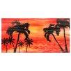Pure Art Tree Sculptures Paradise Palm Tree Dream Original Painting Plaque