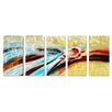 <strong>Abstract Sculptures Where the Rivers Meet 5 Piece Original Painting...</strong> by Pure Art