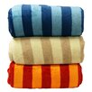 <strong>LCM Home Fashions</strong> Luxury Printed Striped Micro Plush Blanket