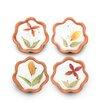 Mela Artisans Poetic Petals 4 Piece Tea Light Set