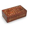 Mela Artisans Leaves of Gold Decorative Box