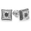 <strong>Dazzling Rock</strong> Men's Round Cut Diamond Stud Earrings