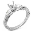 <strong>Dazzling Rock</strong> 14K White Gold Pear Cut Semi-Mount Diamond Ring