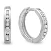 <strong>Dazzling Rock</strong> Round Cut Diamond Huggie Hoop Earrings