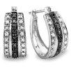 Dazzling Rock Round Cut Diamond Hoop Earrings