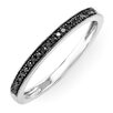 <strong>Dazzling Rock</strong> 14K White Gold Round Cut Diamond Milgrain Anniversary Wedding Band