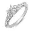 <strong>Dazzling Rock</strong> 14K White Gold Round Cut Semi-Mount Diamond Ring