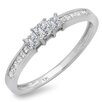 <strong>10K White Gold Princess Cut Diamond Ring</strong> by Dazzling Rock