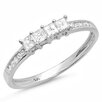 <strong>Dazzling Rock</strong> 14K White Gold Princess Cut Diamond Anniversary Wedding Band