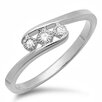 <strong>Dazzling Rock</strong> Sterling Silver Round Cut Diamond Ring