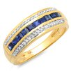 Dazzling Rock 10K Yellow Gold Princess Cut Sapphire Anniversary Wedding Band