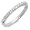 <strong>Dazzling Rock</strong> 10K White Gold Princess Cut Diamond Anniversary Wedding Band