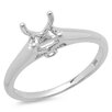 <strong>Dazzling Rock</strong> 14K White Gold Round Cut Semi-Mount Diamond Ring