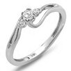 Dazzling Rock 10K White Gold Round Cut Diamond Crossover Swirl Ring