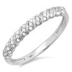 <strong>14K White Gold Round Cut Diamond Anniversary Wedding Band</strong> by Dazzling Rock
