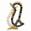 <strong>Dazzling Rock</strong> 10K Yellow Gold Diamond Penguin Pendant