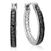 <strong>Dazzling Rock</strong> Round Cut Diamond Hoop Earrings