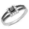 <strong>Dazzling Rock</strong> 10K White Gold Princess Cut Diamond Ring