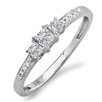 <strong>14K White Gold Princess Cut Diamond Ring</strong> by Dazzling Rock