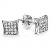 Dazzling Rock Men's Hip Hop Round Cut Diamond Stud Earrings