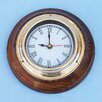 """Handcrafted Model Ships 7"""" Nautical Wall Clock"""